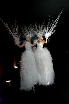 These Ice Maidens are fabulous and look great as part of a Winter Wonderland theme.  http://bigfootevents.co.uk/weddings/Themed-Weddings-Venue-Decor/Winter-Wonderland-Narnia-Themed-Event.aspx
