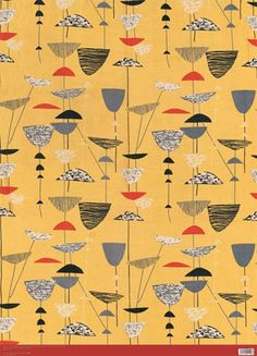 GIFTWRAP - Calyx, furnishing textile, 1951 by Lucienne Day (1917-2010)