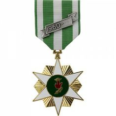 """The Republic of Vietnam Campaign Medal (VCM, VNCM) was a decoration presented by South Vietnam to recognize members of allied forces who served in the Vietnam War for a period of at least six months. Service members who were wounded, captured or killed in action were automatically awarded the medal regardless of time served. The """"1960 Bar"""" device is given with the medal and was meant to indicate the years the war was fought from the beginning to the end."""