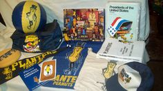Vintage Planters Peanuts Collectibles: Bags, Puzzle,Newsletters, Ball, Pennant!