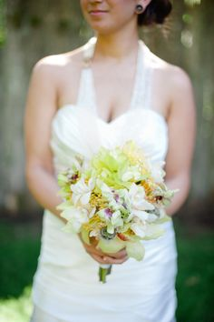 In love with orchid again. yellow orchid bouquet // photo by Brandi Welles Photographer