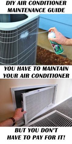 Simple and easy tutorial for regular Air Conditioner Maintenance for beginners! Don't pay for air conditioner maintenance that you can do yourself for free! home maintenance DIY Air Conditioner Maintenance Ac Maintenance, Home Maintenance Checklist, Garage Door Maintenance, Household Cleaning Tips, House Cleaning Tips, Cleaning Hacks, Cleaning Supplies, Home Renovation, Diy Air Conditioner