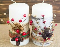 For when your candle decor feels a little boring. Here's how to transform cheap candles with different DIY projects! - This hometalk DIY article has been shared as a blogger affiliate link #ad #DIYcandles #candlegift #hostessgift