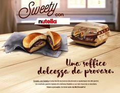 """Conheça a nova """"gordice"""" lançada exclusivamente na Itália pelo McDonald's e que deixou todos os outros países, inclusive nós brasileiros, cheios de inveja.   #mcdonalds #sweetyconnutella #gordices #fastfood #italia #viagens #europa"""