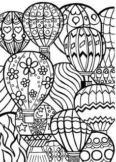 Image result for coloring hot air balloon