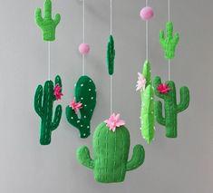 cactus mobile cactus baby mobile cactus nursery cactus baby