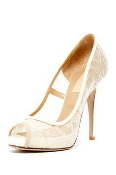 Valentino Lace Peep Toe Pump by MSA Haute Couture Inc. on @HauteLook