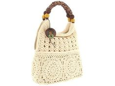 Crochet lace bag with pattern