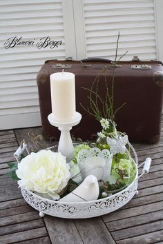 """Deko-Objekte - :::: Wohndeko """" Sommertablett """" ::: - Ostern Dekoration Garten Beton - You are in the right place about diy Here we offer you the most beautiful pictures about the diy - Marble Tray, Decorating Coffee Tables, Deco Table, Tray Decor, Decorative Objects, Pillar Candles, Home Accessories, Creations, Room Decor"""