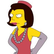 """The Simpsons - Martha Quimby, Mayor Joe """"Diamond"""" Quimby's wife"""