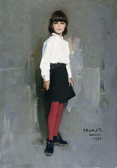 1999. La niña de las medias rojas - MUSEO REVELLO DE TORO