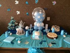 I helped design this 'sweet table' for a friend's Babyshower.