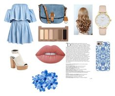 """""""denim"""" by eve45-718 ❤ liked on Polyvore featuring Rebecca Minkoff, MICHAEL Michael Kors, Urban Decay, Lime Crime, Kate Spade, Casetify and Balmain"""