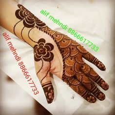 Simple Arabic Mehndi Designs, Modern Mehndi Designs, Mehndi Design Pictures, Wedding Mehndi Designs, Beautiful Mehndi Design, Mehndi Images, Latest Mehndi Designs, Simple Henna, Henna Designs