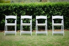 White American wedding chairs