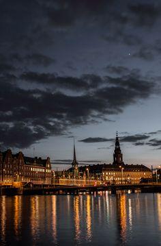Sunset in Copenhagen, Denmark
