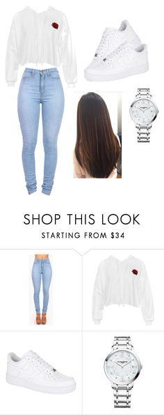 """""""Untitled #14"""" by kaylaihernandez ❤ liked on Polyvore featuring Vibrant, Sans Souci, NIKE and Baume & Mercier"""