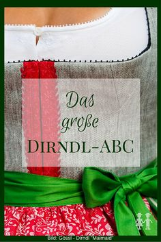 From Auszier to Zurkerl in dirndl ABC. Everything you know about Dirndl so . Dirndl Outfit, Dirndl Blouse, Sewing Hacks, Sewing Crafts, Oktoberfest Outfit, Oktoberfest Clothing, German Fashion, Textiles, Business Outfits