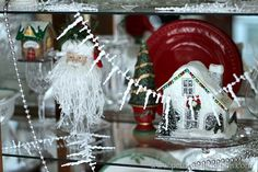Glittery Christmas house Petticoat Junktion