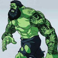 Bearded & Tatted Hulk