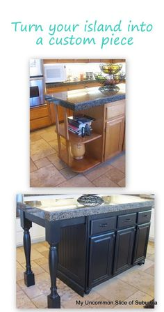 Turn your kitchen island into a custom piece of furniture