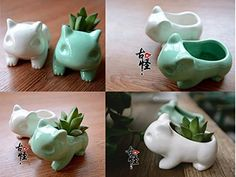 Amazon.com: Anime Japanese Pikachu Pokemon Bulbasaur Nintendo Game Home Decorative Ceramic Art Vase Green: Computers & Accessories