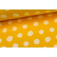 Stoff - Jacquard Knit - Käpynen - Dots - Gelb