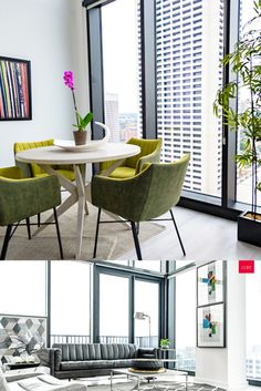 Virtual backgrounds are perfect for those working from home. Download these and get more #workfromhome tips on the CORT blog. Home Office, Office Style, Office Fashion, Dining Chairs, Backgrounds, Diy Projects, Table, Furniture, Tips