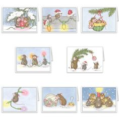 """""""8 diff Christmas Cards + 8 Env"""", Stock #: CC-17, from House-Mouse Designs®. This item was recently purchased off from our web site. Click on the image to see more information."""