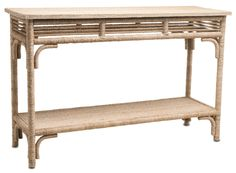 Olisa Console Table. Occasional Tables Natural Abaca Rope/Engineered Wood/Rattan