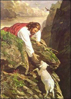 Jesus seeks the lost Pictures Of Jesus Christ, Bible Pictures, Religious Pictures, Religious Art, Lord Is My Shepherd, The Good Shepherd, Christian Images, Christian Art, Image Jesus