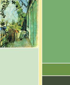 color palette Henri Matisse - The terrace, St. Tropez; 1904.