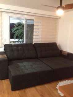 sofá sued amassado preto www.lovemoveis.com.br