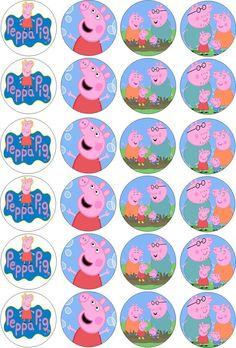 DIY 15 Ideias para Festa da Peppa Pig – toppers festa peppa Peppa Pig is usua… George Pig, Peppa E George, Pig Birthday, 3rd Birthday Parties, Birthday Party Decorations, Papa Pig, Peppa Pig Imagenes, Cumple Peppa Pig, Pig Cupcakes