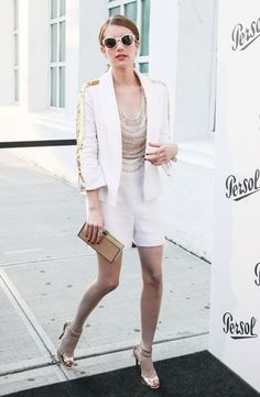 Emma Roberts Wearing Persol PO3025S CAPRI EDITION Sunglasses at Persol Magnificent Obsessions event, New York http://pict.com/p/0O