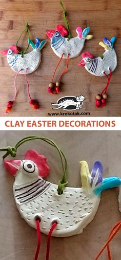 children activities, more than 2000 coloring pages Easter Projects, Easter Crafts For Kids, Clay Projects, Clay Crafts, Fun Crafts, Easter Ideas, Wood Crafts, Easter Activities, Preschool Crafts