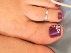 16 ideas beach pedicure designs toenails nailart for 2019 Purple Pedicure, Pedicure Nail Art, Toe Nail Art, Beach Pedicure, Pedicure Ideas, Flower Pedicure Designs, Purple Nails, Cute Toenail Designs, Toe Nail Designs