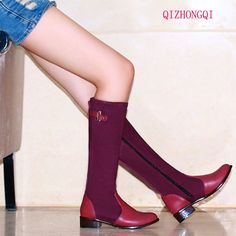 33.75$  Buy here - http://alix1l.shopchina.info/go.php?t=32730018765 - Women Riding Boots Round Toe Chunky Low Heel Motorcycle Boots Shoes Zipper Fashion Buckle Women Boots Brown black Big Size36-50 33.75$ #bestbuy