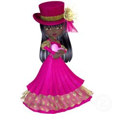 Photo Sculpture Magnet - African American Princess.     Image used on this item is licensed by www.butterflywebgraphics.com