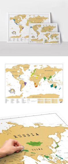 Luckies Scratch Map XL   Mapa Mundi para marcar suas viagens