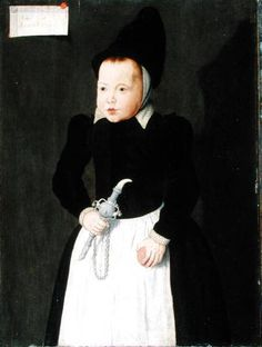 "Ludger Tom the Younger Ring ""A Portrait of a Child Holding a Rinkelbel"""