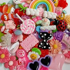 LOVEKITTY TM Z446 New -- DIY 3D Flowers and Butterflies Alloy Bling Bling Glass Gems Flatback Decoden Cabochons Cell Phone Case Deco Kit