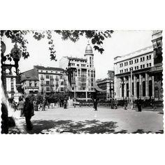 1950 PLAZA Y EDIFICIO DEL BANCO DE ESPAÑA - -FECHA APROXIMADA: Descarga y compra fotografías históricas en | abcfoto.abc.es
