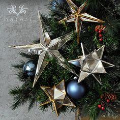 シルバーミラースターLオーナメント|クリスマス雑貨の通販【マテリ】 |