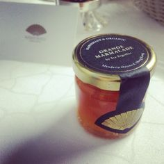 Handmade and organic jam for in-room dining