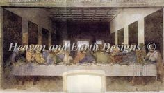 DaVinci's Last Supper Cross Stitch chart from HAED.