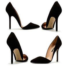 ZARA Asymmetric black leather court shoes heels blogger RARE 6 39