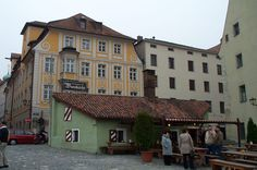 Regensburg, Germany this little place may not look like much but it is the best place in the WORLD to get bratwurst and saurkraut!!! mmmmm can almost taste it!