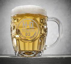 Beer tastes better when you're reminded of your bike. | Harley-Davidson #HDBlackLabel Glass Beer Mug