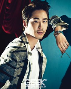 Kang Ji Hwan - Geek Magazine 2014 June Issue. Still stylish even with a cheesy mustache...sw